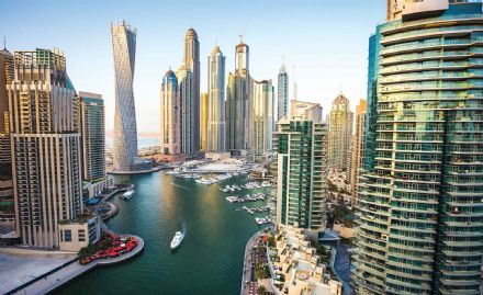 Giant non-woven wallpaper murals   Dubai City Skyline Marina 1673